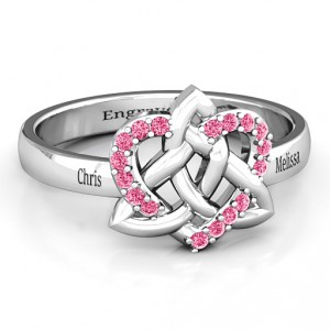 Personalised Celtic Heart Ring - Handcrafted By Name My Rings™