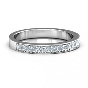 Personalised Classic Half Eternity Ring - Handcrafted By Name My Rings™