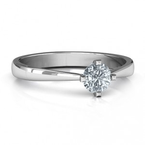 Personalised Classic Round Solitaire Ring - Handcrafted By Name My Rings™