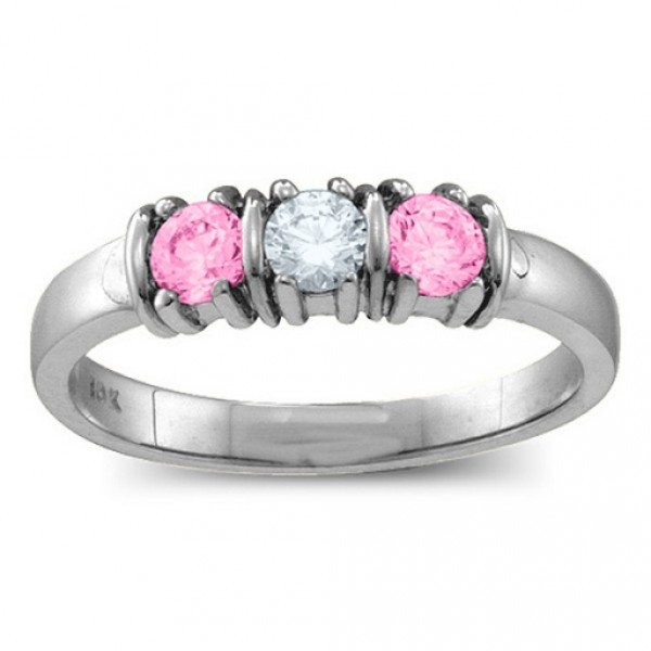 Personalised Classic Separated 25 Stones Ring - Handcrafted By Name My Rings™
