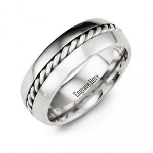 Personalised Cobalt Rope Ring - Handcrafted By Name My Rings™