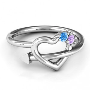 Personalised Cupid's Hold Love Ring - Handcrafted By Name My Rings™