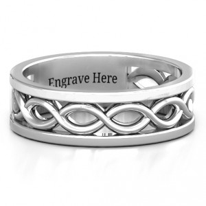 Personalised Diadem Infinity Men's Ring - Handcrafted By Name My Rings™