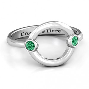 Personalised Double Stone Karma Ring - Handcrafted By Name My Rings™