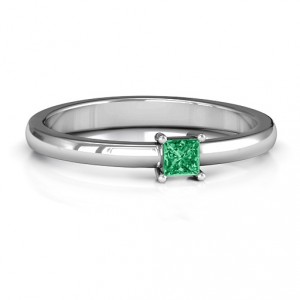 Personalised Elegant Princess Ring - Handcrafted By Name My Rings™
