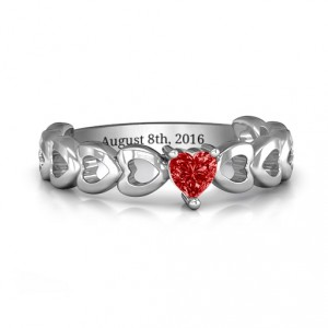 Personalised Enchanting Love Promise Ring - Handcrafted By Name My Rings™