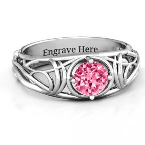 Personalised Enchanting Tangle of Love Ring - Handcrafted By Name My Rings™