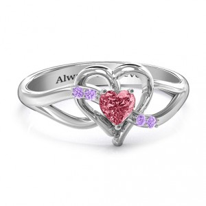 Personalised Endless Romance Engravable Heart Ring - Handcrafted By Name My Rings™