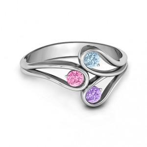 Personalised Eternal Elegance ThreeStone Ring - Handcrafted By Name My Rings™