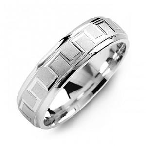 Personalised Eternal Greek Key Men's Ring - Handcrafted By Name My Rings™