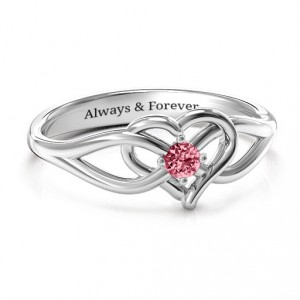 Personalised Everlasting Elegance Interwoven Heart Ring - Handcrafted By Name My Rings™