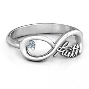 Personalised Faith Infinity Ring - Handcrafted By Name My Rings™
