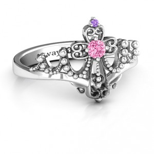 Personalised Forever And Always Tiara Ring - Handcrafted By Name My Rings™