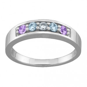 Personalised Geometric 36 Stones Ring - Handcrafted By Name My Rings™