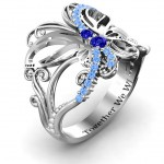 Personalised Glimmering Butterfly Ring - Handcrafted By Name My Rings™