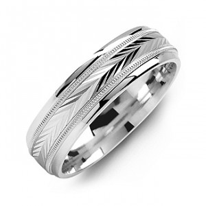 Personalised Harvest of Love Milgrain Men's Ring - Handcrafted By Name My Rings™