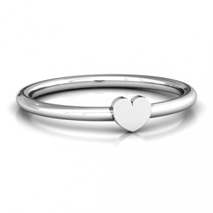 Personalised Heart Stackr Ring - Handcrafted By Name My Rings™