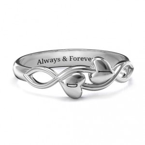 Personalised Heavenly Hearts Ring - Handcrafted By Name My Rings™