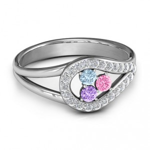 Personalised Illuminating Accents Ring - Handcrafted By Name My Rings™