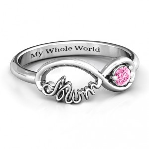 Personalised Infinite Bond Mum Ring - Handcrafted By Name My Rings™