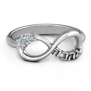 Personalised Infinity Ahava Ring - Handcrafted By Name My Rings™