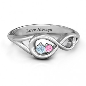Personalised Infinity Love Nest Ring - Handcrafted By Name My Rings™