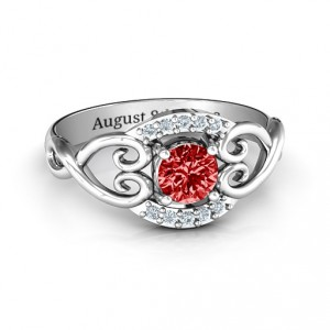 Personalised Lasting Love Promise Ring with Accents - Handcrafted By Name My Rings™