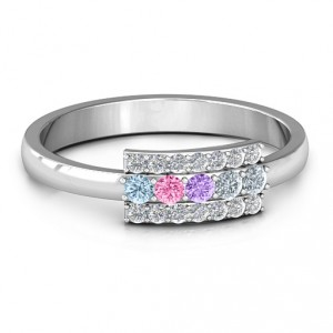 Personalised Layers Of Light Ring - Handcrafted By Name My Rings™