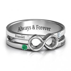 Personalised Men's Accented Infinity Ring - Handcrafted By Name My Rings™