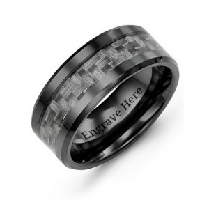 Personalised Men's Nightfall Ceramic Ring - Handcrafted By Name My Rings™