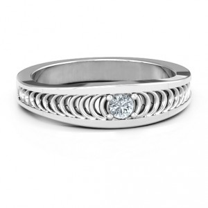 Personalised Modern Elegance Band Ring - Handcrafted By Name My Rings™