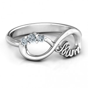 Personalised Mum's Infinite Love with Stones Ring - Handcrafted By Name My Rings™