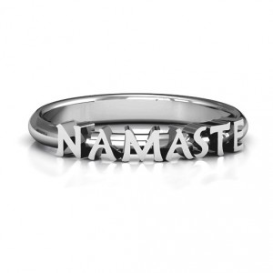 Personalised Namaste Ring - Handcrafted By Name My Rings™