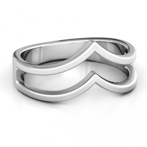 Personalised Peaks and Valleys Geometric Ring - Handcrafted By Name My Rings™