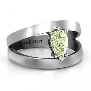 Personalised Pear With Flair Ring - Handcrafted By Name My Rings™
