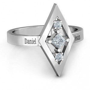 Personalised Playing with Diamonds Ring - Handcrafted By Name My Rings™