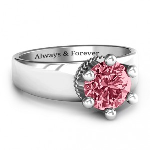 Personalised Radiant Royal Crown Ring - Handcrafted By Name My Rings™