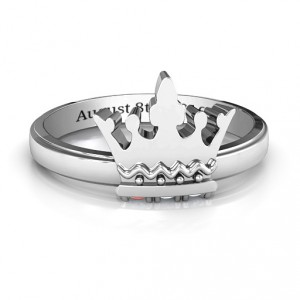 Personalised Royal Family Princess Tiara Ring - Handcrafted By Name My Rings™