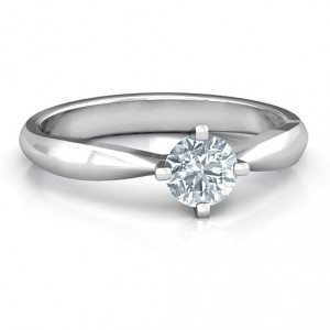 Personalised Sandra Solitaire Ring - Handcrafted By Name My Rings™