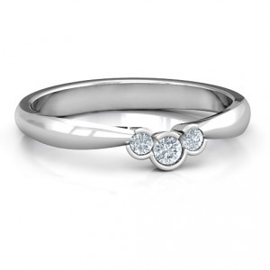 Personalised Selena Band Ring - Handcrafted By Name My Rings™