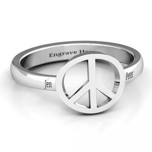 Personalised Shanti Peace Ring - Handcrafted By Name My Rings™