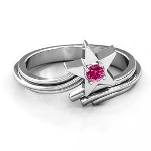 Personalised Shooting Star Ring - Handcrafted By Name My Rings™