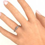Personalised Soaring Butterfly with Stone 'Flower' Ring - Handcrafted By Name My Rings™