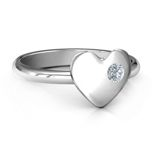 Personalised Soulmate's Heart Ring - Handcrafted By Name My Rings™
