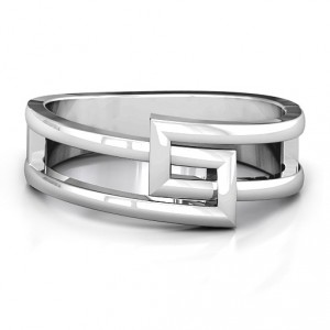 Personalised Square on Square Geometric Ring - Handcrafted By Name My Rings™