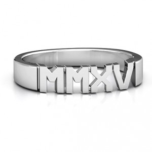 Personalised 2015 Roman Numeral Graduation Ring - Handcrafted By Name My Rings™