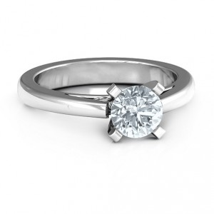 Personalised Adoration Solitaire Ring - Handcrafted By Name My Rings™