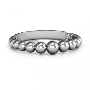 Personalised Beaded Beauty Ring - Handcrafted By Name My Rings™