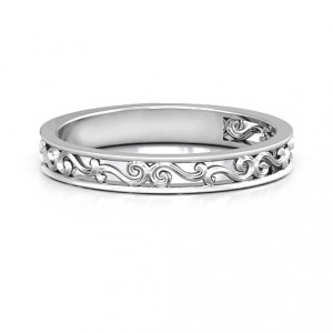 Personalised Filigree Band Ring - Handcrafted By Name My Rings™