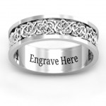 Personalised Half Eternity Celtic Ring - Handcrafted By Name My Rings™